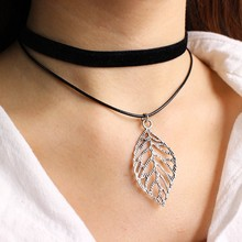 Personalized fashion lady necklace triangular leaves cross constellation pentacle and other pendants are optional