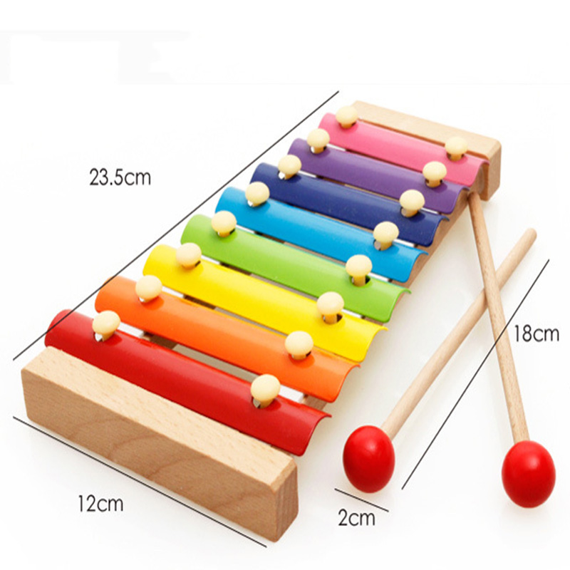 Funny Learning/&Education Wooden Xylophone 8-Note Music Instrument Toys Kids Gift