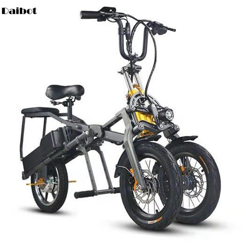 Daibot Tricycle électrique Scooter 3 roues 14 pouces vélo électrique 350W 48V pliable vélo électrique rapide avec siège