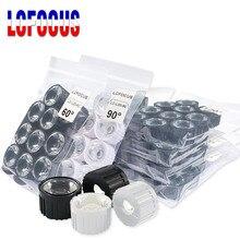 50 set/lotto 5 8 10 15 25 30 45 60 90 120 Gradi LED Lente 20mm PMMA Lens + staffa Per Il FAI DA TE 1W 3W 5W LED Ad Alta Potenza di Chip COB