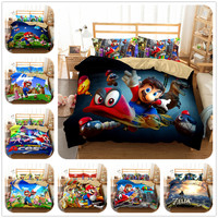 super mario Odyssey boys bedding set king queen double full twin single size bed linen set