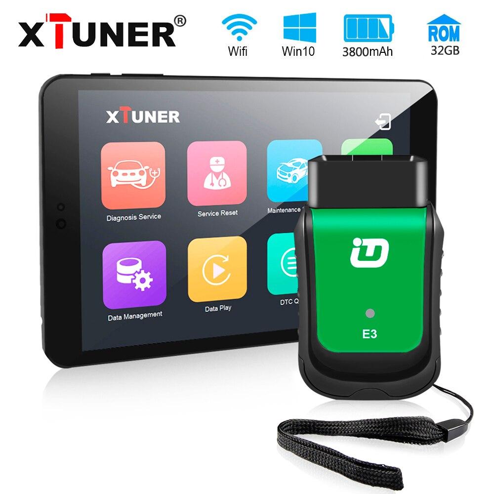 Новейшая версия XTUNER E3 Easydiag OBD2 Wifi ODB 2 Авто сканер 8 дюймов Windows планшет автомобильный диагностический инструмент Замена Vpecker