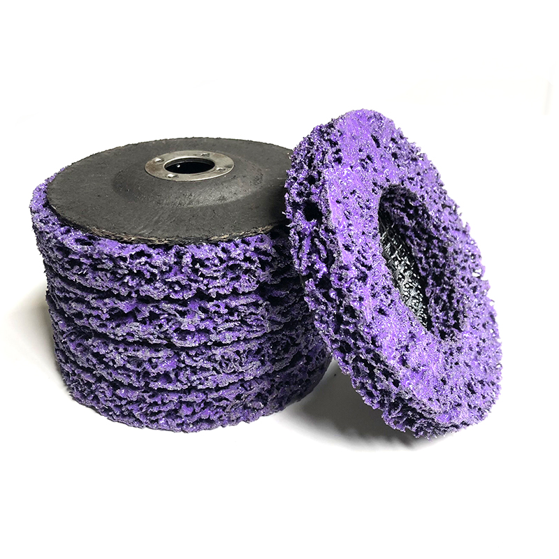 """5 Pcs 4"""" Strip Disc 46 Grit Wheel Paint Rust Removal Clean Purple Poly Strip Disc Wheel For Angle Grinder 100x16mm"""