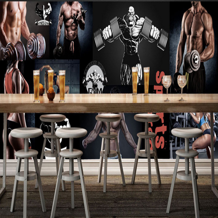 3D Workwear Large Mural Dance Sports Gym Menzerna Beauty Background Wallpaper Seamless Wall Cloth Wallpaper