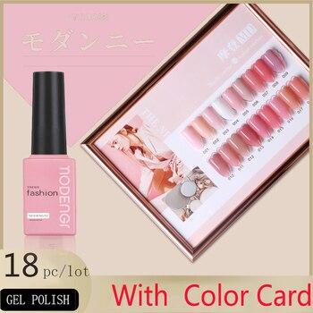 Gel Polish Set All For Manicure Semi Permanent Vernis Top Coat UV LED Gel Varnish Soak Off Nail Art Gel Nail Polish 18 Colors недорого