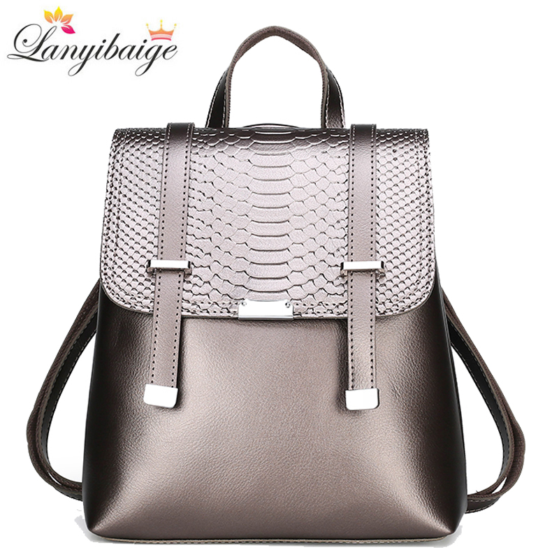 2020 New Backpack Women High Quality Leather Backpack Large Capacity Travel Backpack Fashion School Bags Shoulder Bags Mochila