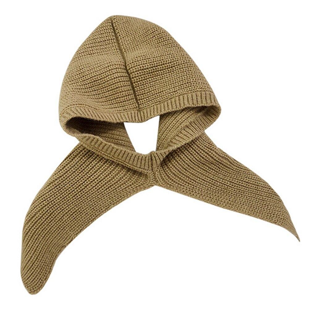 Inverno sólido malha cachecol capa cabeça feminina quente snood buff gola grossa xale envoltórios à prova de vento sjaals dames bufandas mujer|Cachecóis femininos|   -