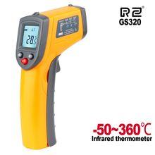 Cyfrowy termometr na podczerwień laserowy miernik temperatury bezdotykowy pirometr higrometr IR termometro GS320 ręczny pirometr