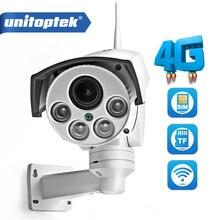 1080P 2MP 3G 4G Sim kaart Ptz Camera Outdoor Ptz Hd Bullet Camera Draadloze Ir 50M 5X/10X Zoom Autofocus Cctv Video Camera