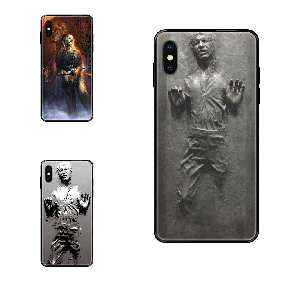 Soft Silicone TPU Black Phone Skin Han Solo Carbonite For Apple iPhone X XR XS 11 12Pro MAX 5S 5C SE 6S 7 8 Plus 2020