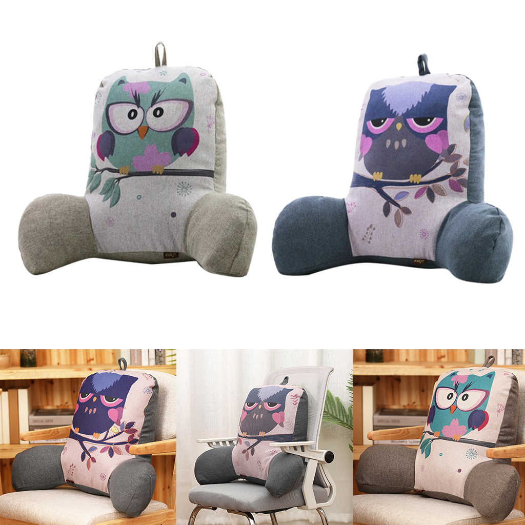 2x Back Rest Pillow Big Backrest Reading Bed Rest Pillow With Arms Change Covers Bed Chair For Adjustable Loft Aliexpress