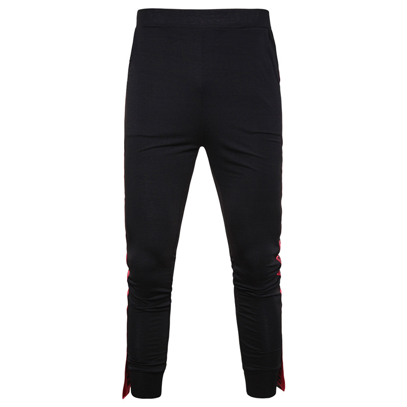 2019 New Style Side Edge Webbing Lettered Casual Sports Couples Trousers Fashion Slim Fit Versatile Skinny Pants