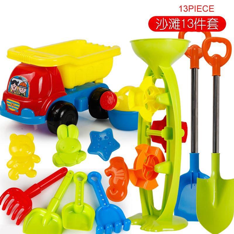 Baby Toys Newborn Toddler Rattle Sand Mold Beach Games Cart Water Table Sand Bucket Toys Brinquedo Praia Beach Toy Set CC50BT