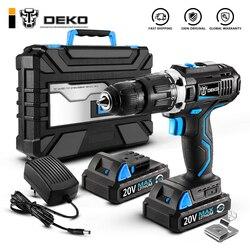 Deko gcd20du 20 v max casa diy carpintaria bateria de lítio-íon sem fio furadeira driver ferramentas elétricas furadeira elétrica