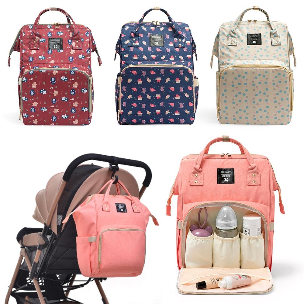 Fashion Mummy Maternity Nappy Bag Large Capacity Nappy Bag Nursing Bag  Large Changing Baby Travel Backpack Handbag For Xmas