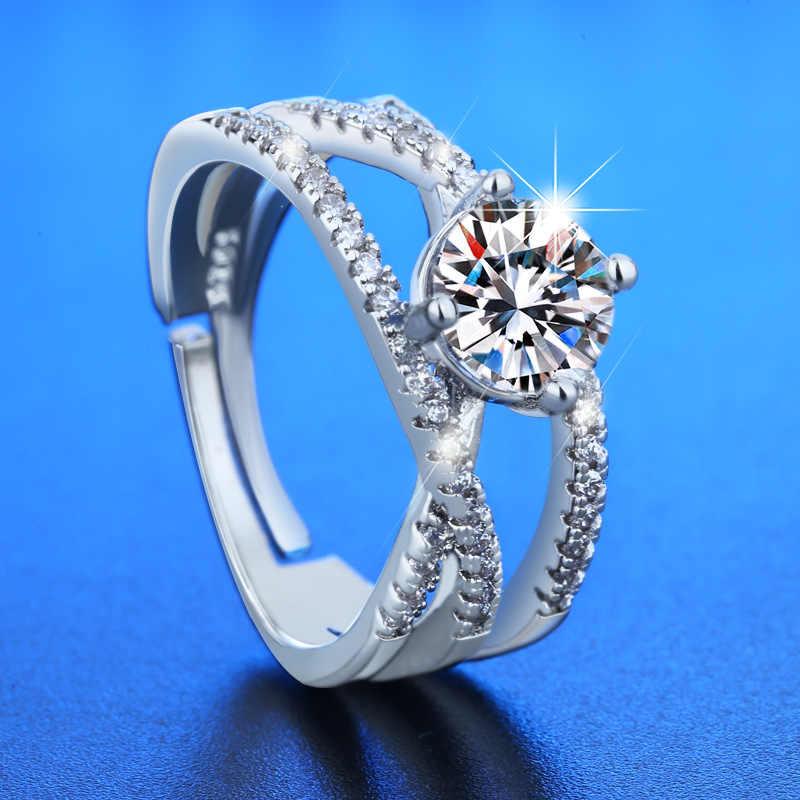 WANGAIYAO2021 Новинка циркониевое изысканное кольцо с пересекающимися линиями женское модное темпераментное дамское свадебное юбилей открытие на День Св. Валентина ri