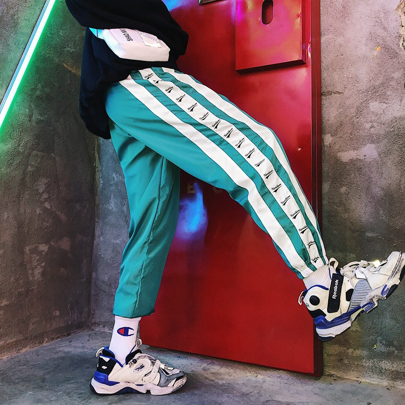 National Trends Street Popular Brand Couples INS Super Fire Collusion Sports School Uniform Pants Loose Hip Hop Hip Hop Men And