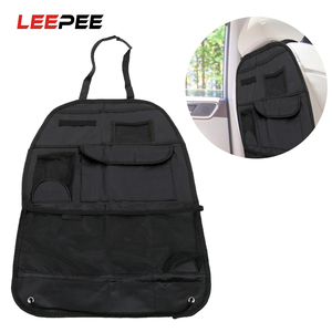 LEEPEE Car Seat Back Organizer Storage Bag Drink Tissue Phone Holder Backseat Pouch Multi-Pocket Hanging Container Car-Styling
