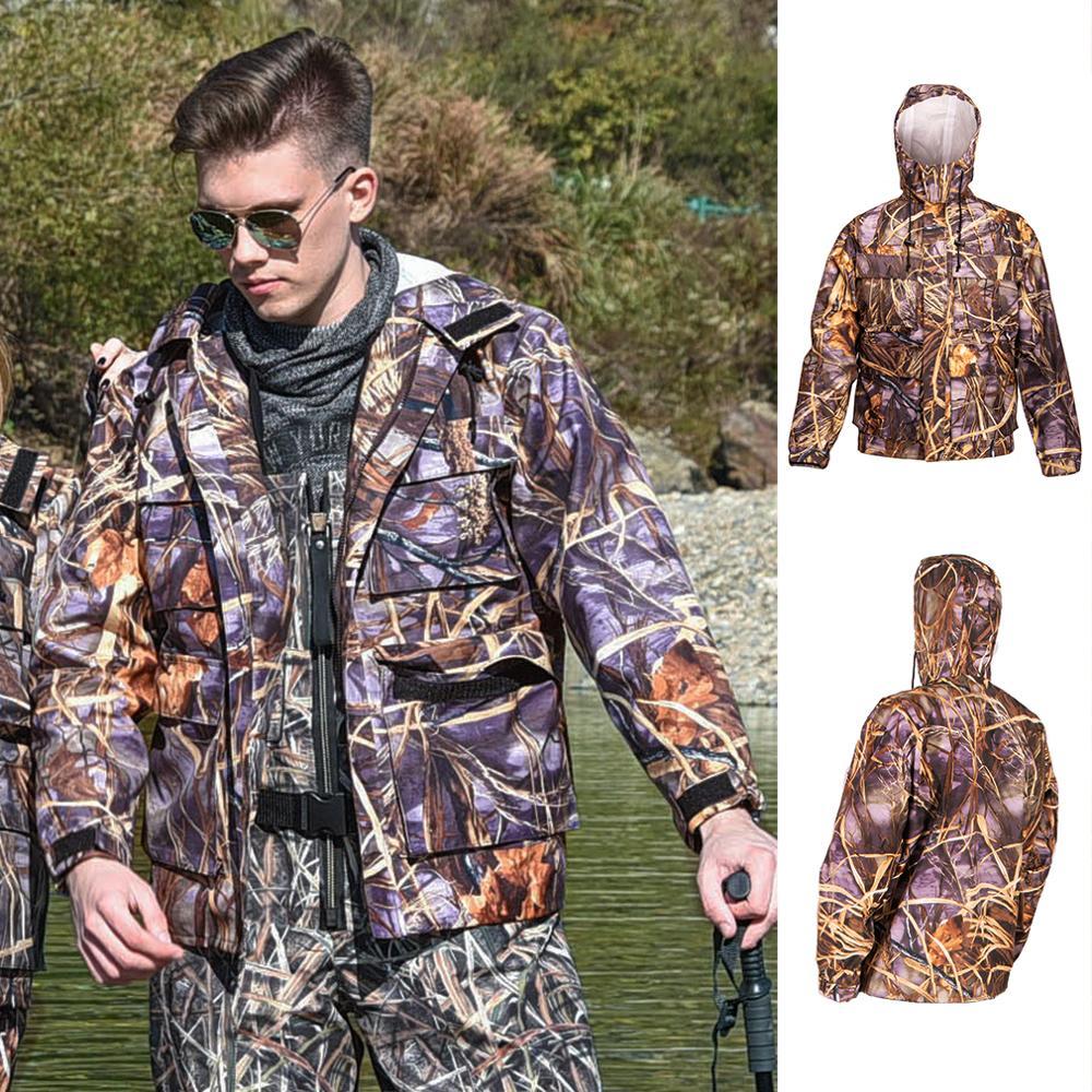 NeyGu Outdoor Waterproof &breathable Fishing Jacket ,Quick Dry Fishing Wader Jacket For Fishing,hunting &hiking