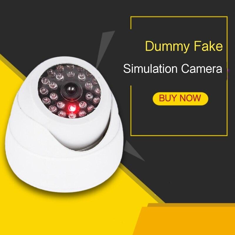 2019 Simulation de sécurité dôme factice fausse caméra avec rouge clignotant lumière LED intérieur extérieur Surveillance vidéo sécurité kamera