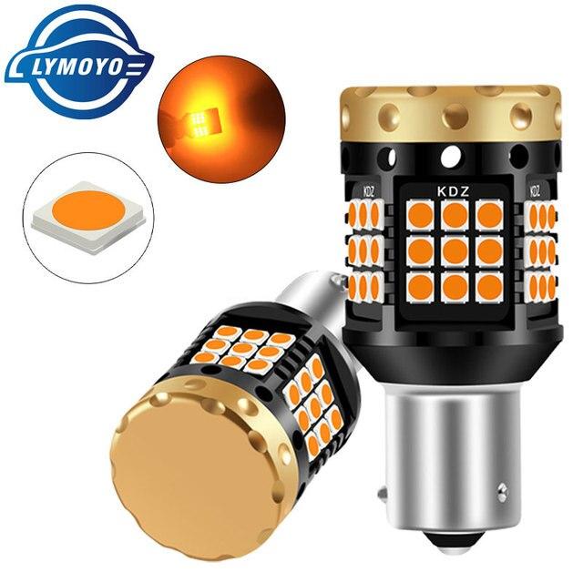2xno hyper flash 1156 ba15s p21w bau15s py21w t20 7440 lâmpada transformar a luz do sinal âmbar 12 24v 3030 36/45smd canbus livre de erros leds