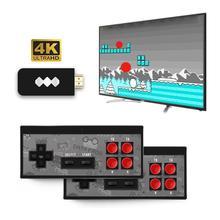 Встроенный 600 Ретро видео Игровая приставка 4K USB Беспроводной 8 бит футболки с принтами на тему классических игр мини Беспроводной консоли AV Выход двойной геймпады