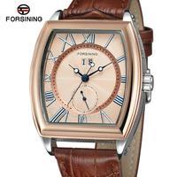 Forsining גברים שעונים למעלה מותג יוקרה 2019 קלאסי רטרו עיצוב יוקרה כחול ידיים אוטומטי עצמי מתפתל מכאני יד שעונים-בשעונים מכניים מתוך שעונים באתר