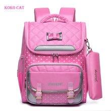 Школьный ранец KOKO для девочек, ортопедический Рюкзак для начальной школы для детей