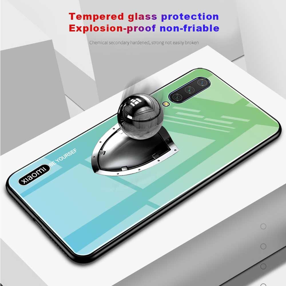 Bakeey Gradient Color Tempered Glass + Soft TPU Back Cover Protective Case for Xiaomi Mi A3 / Xiaomi Mi CC9e