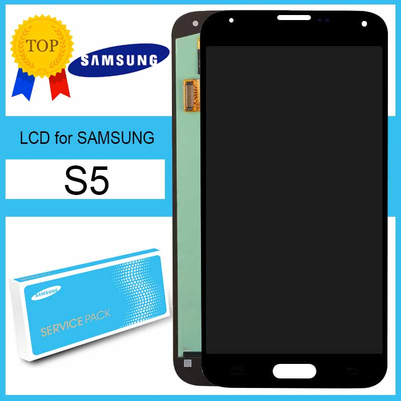 Original 5.1'' for Samsung Galaxy S5 i9600 G900 G900F SM-G900F LCD Display Touch Screen Digitizer Assembly Repair Parts(China)