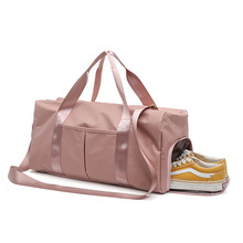 Shoe compartment wet and dry separation yoga fitness bag large capacity travel sport for women
