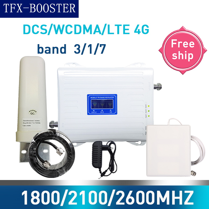 TFX-BOOSTER GSM 2G WCDMA 3G LTE 4G 1800/2100/2600MHZ Cell Phone Signal Booster 2G 3G 4G LTE 2600 Repeater Cell Phone Booster