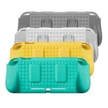 Capa macia para nintendo switch lite, proteção de silicone em tpu para armazenamento de 2 cartões aperto