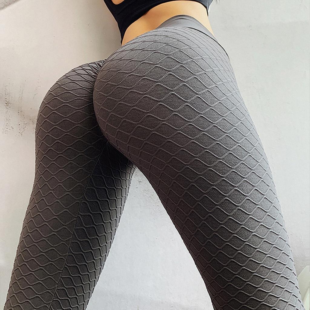 Pantalones De Yoga Ajustados De Cintura Alta Pantalones De Otono Para Mujer Color Puro Ejercicio Levantar Nalgas Gimnasio Entrenamiento De Deportes Mallas De Fitness Pantalones De Yoga Aliexpress