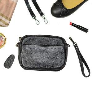 Image 1 - مصمم امرأة حقيبة يد جلدية صغيرة فاخرة حقيبة كتف عبر الجسم موضة حقيبة ساع المرأة جلد طبيعي أسود حقيبة يد