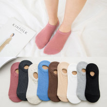10pcs=5pairs/lot No Show Socks Women Casual Boat Slipper Thin Solid Cotton for Lady Girl Non Slip