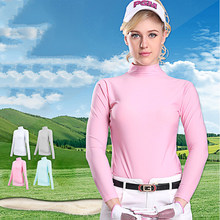 PGM Women Golf Tshirt Sport Clothing Long Sleeve Clothes Woman Wear T-shirt Sunscreen UV Breathable Outdoor Ladies Golf Apparel(China)