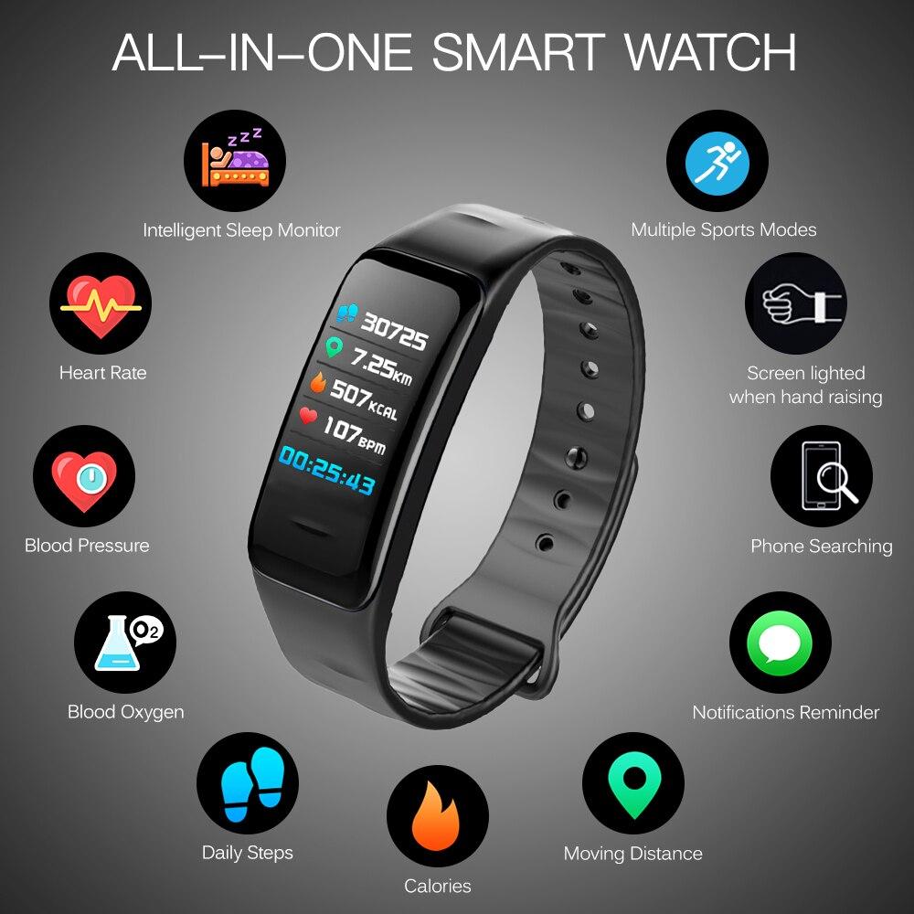 Smart Wristband Fitness Tracker Watch Heart Rate Step Counter Calorie Counter Sleep Monitoring IP67 Women Men Smart Bracelet