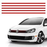 Pegatinas de color rojo para coche, molduras de rejilla delantera de capó, accesorios de decoración para VW Golf 6 7 Tiguan POLO GTI, 5 uds.