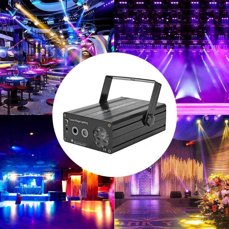 LED Snowflake Stage Laser Lamp Landscape Projector Lighting Voice Control More than 200 Laser Effects for Christmas Party|Stage Lighting Effect| |  - title=