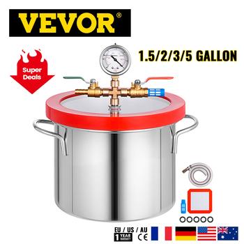 Komora próżniowa VEVOR 1 5 2 3 5 galonów ze stali nierdzewnej próżniowa komora odgazowująca szklana pokrywa poddana obróbce cieplnej pokrywka silikonowa uszczelka tanie i dobre opinie CN (pochodzenie)
