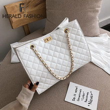 Luxus Handtaschen Frauen Taschen Designer Leder Kette Große Schulter Taschen Tote Hand Tasche Mode Umhängetaschen Für Frauen 2020