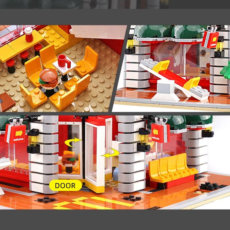 Yeshin SD6901 The MOC American Fast Food Shop Model