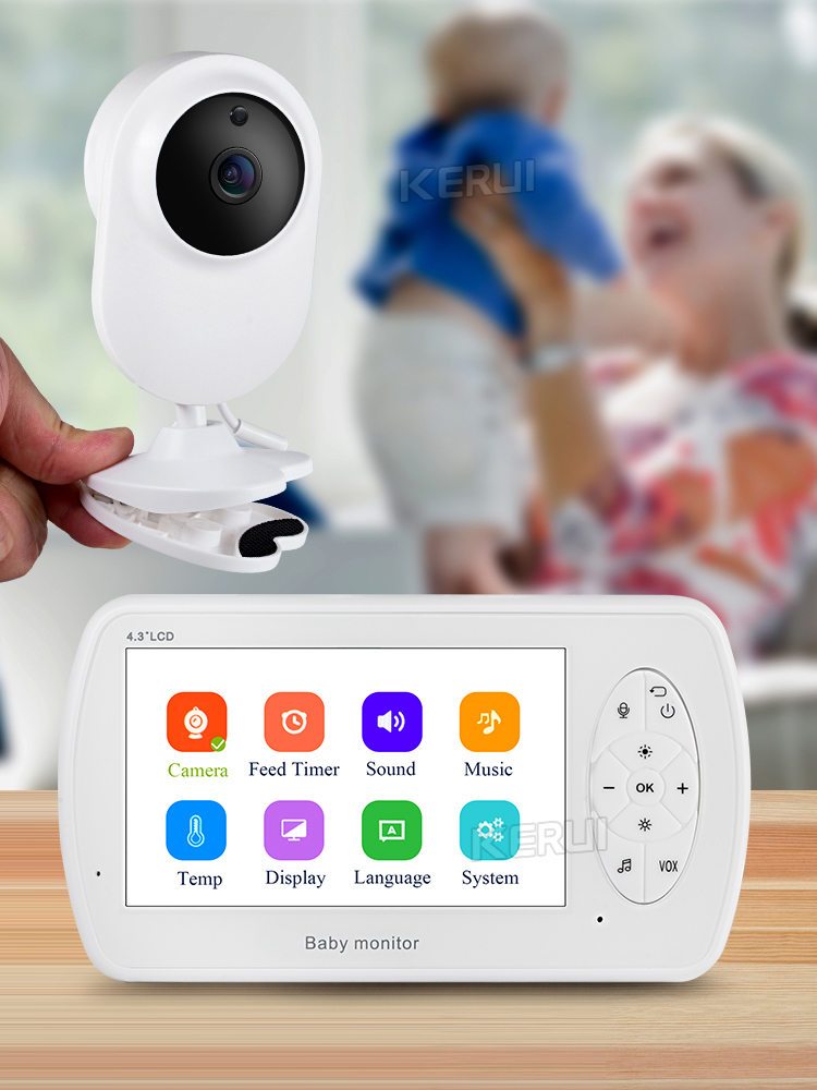 KERUI 4.3 inch Screen 2MP 1080P Wireless Video Nanny Baby Monitor With Camera Security