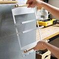 Metall Küche Rack Magnetische Kühlschrank Organizer Spice Rack Papier Handtuch Rolle Halter Lagerung Regal UMARMUNG-Angebote