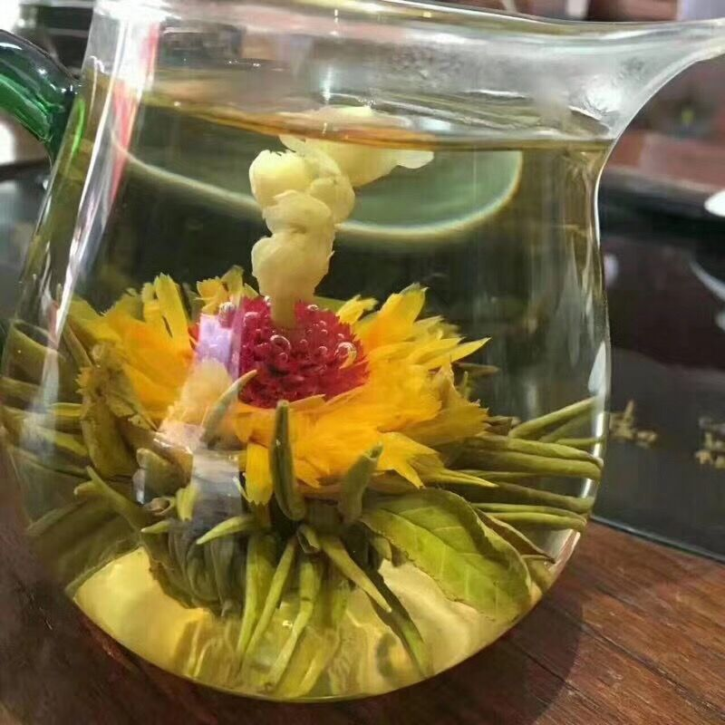 16 Kinds of Handmade Blooming Flower Tea 140g Chinese Ball blooming Flower Herbal Artistic The Tea For Health Care Products Tea 2
