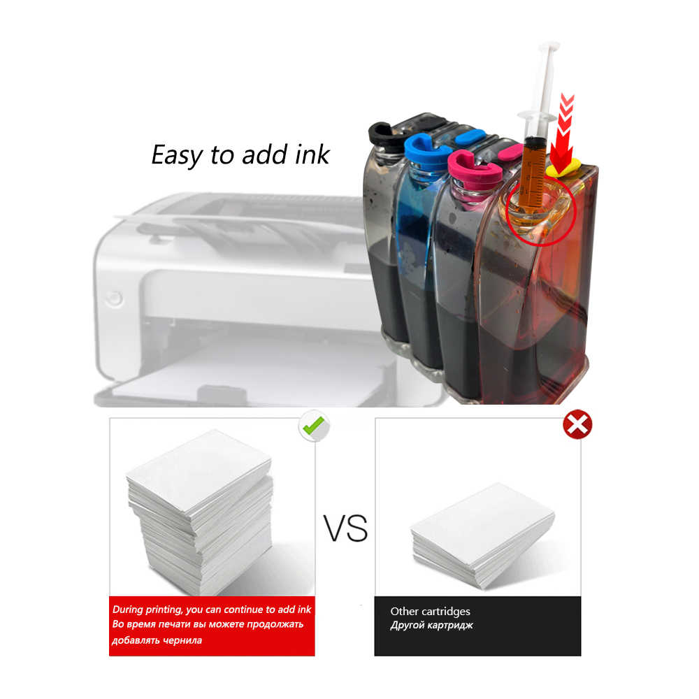 DMYON 301 CISS luzem tusz kompatybilny do HP dla Deskjet 1050 2050 2050s 3050 4500 4502 4504 5530 5532 5539 tusz do drukarki kasety