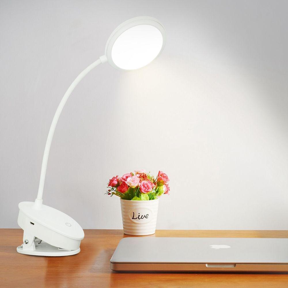 Λάμπα γραφείου led με κλιπ εύκαμπτο λαιμό και μηχανισμό ρύθμισης touch msow