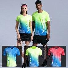 Мужская теннисная рубашка падель рубашка Бадминтон Спорт Рубашка для бега быстросохнущая дышащая женская для игры в настольный теннис, футболка для тренировок