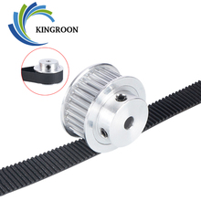 KINGROON 2pcs 3GT 30 Tooth Pulley Wheel 3D Printer Parts Bore 5mm 6.35mm 8mm GT3 Timing Pulley Aluminium Gear Belt Width 10mm